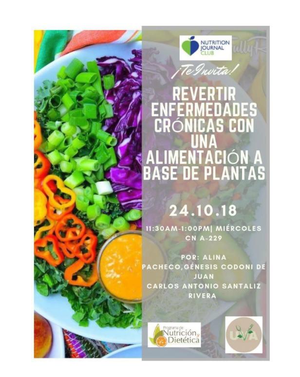 """Charla """"Revertir enfermedades crónicas con una alimentación a base de plantas"""" @ CN-A229"""