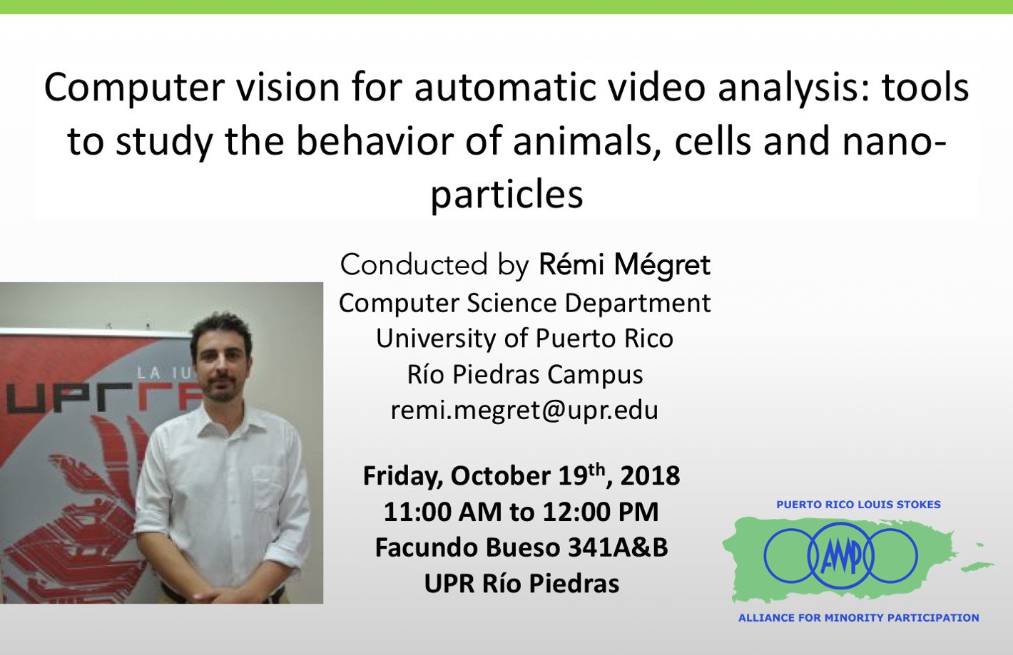 Seminario Computer vision for automatic video analysis: tools to study the behavior of animals, cells and nano-particles @ Facundo Bueso Salón FB341 | Ensenada | Baja California | México