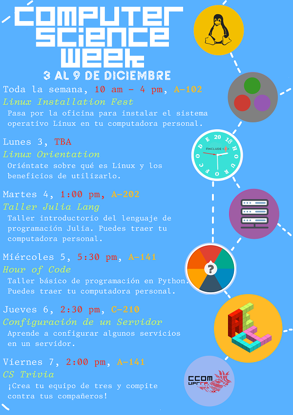Afiche computer science week