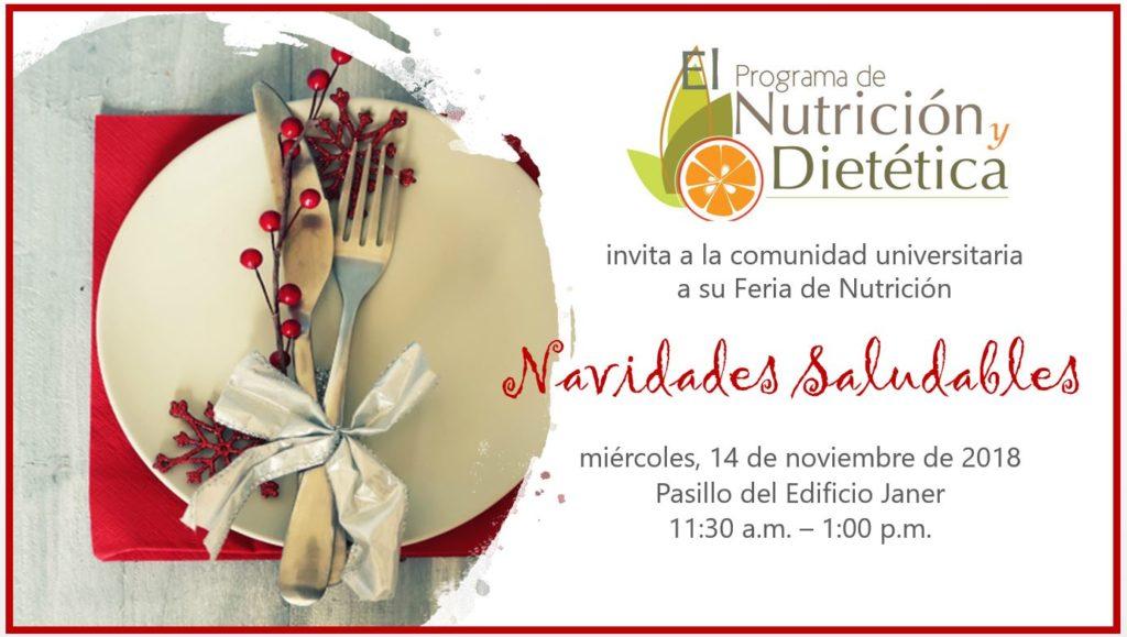 """Feria de Nutrición """"Navidades Saludables"""""""