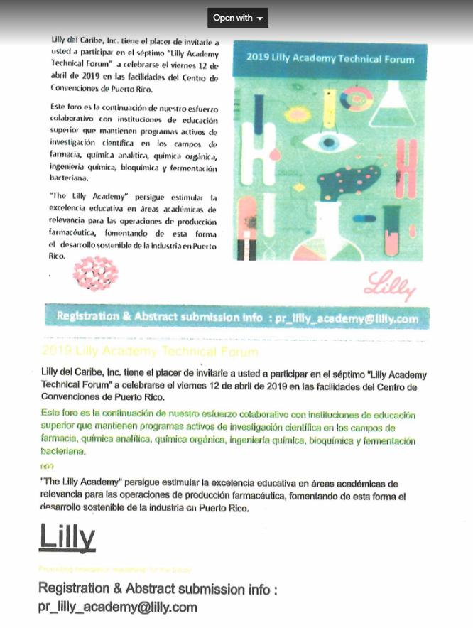 2019 Lilly Academy Technical Forum @ Centro de Convenciones de Puerto Rico