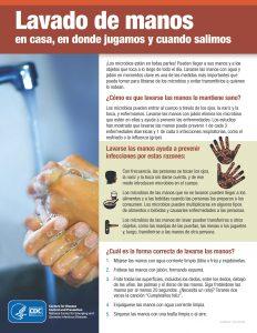 Hoja informativa de lavado de manos
