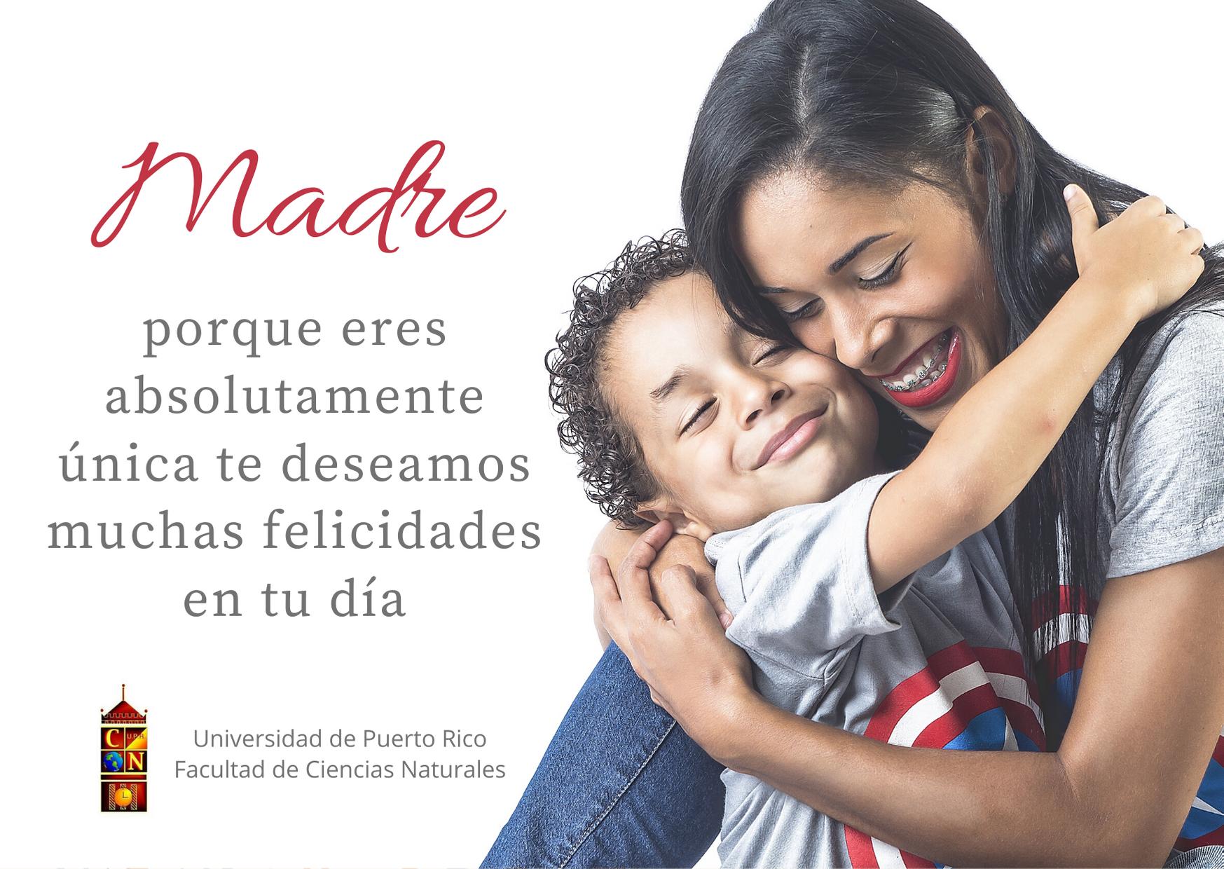 tarjeta de felicitación por motivo del día de las madres