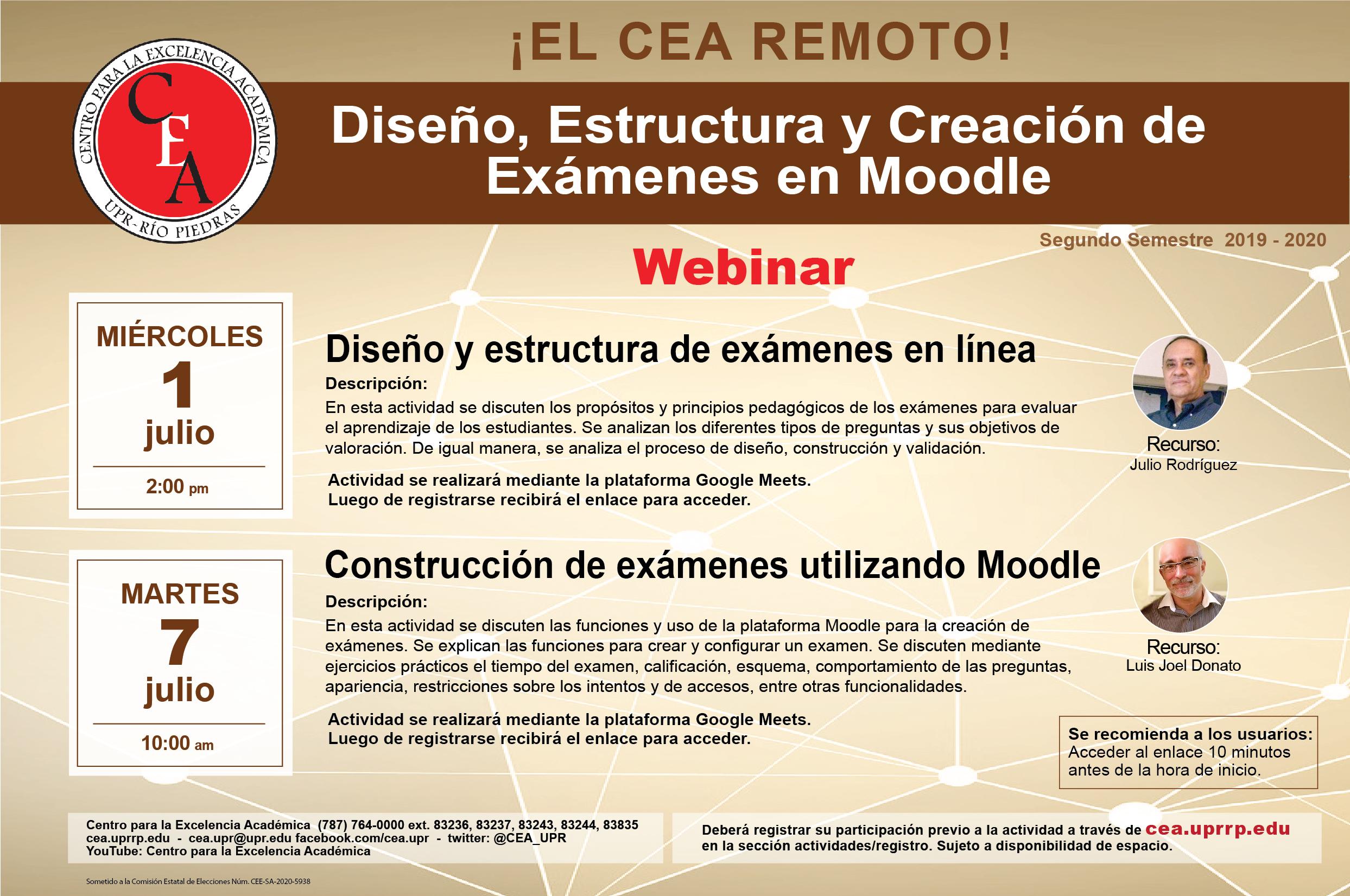 Afiche con la información del taller