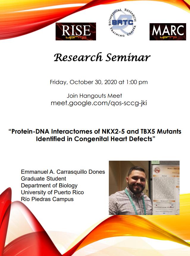"Seminario de InvestigaciónCientífica ""Protein-DNAInteractomesof NKX2-5 and TBX5MutantsIdentifiedin Congenital Heart Defects"""