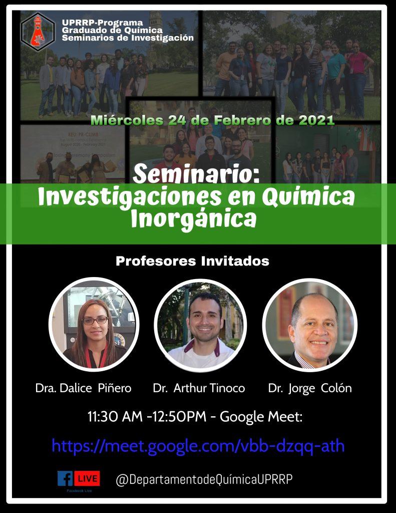 Afiche con información del evento
