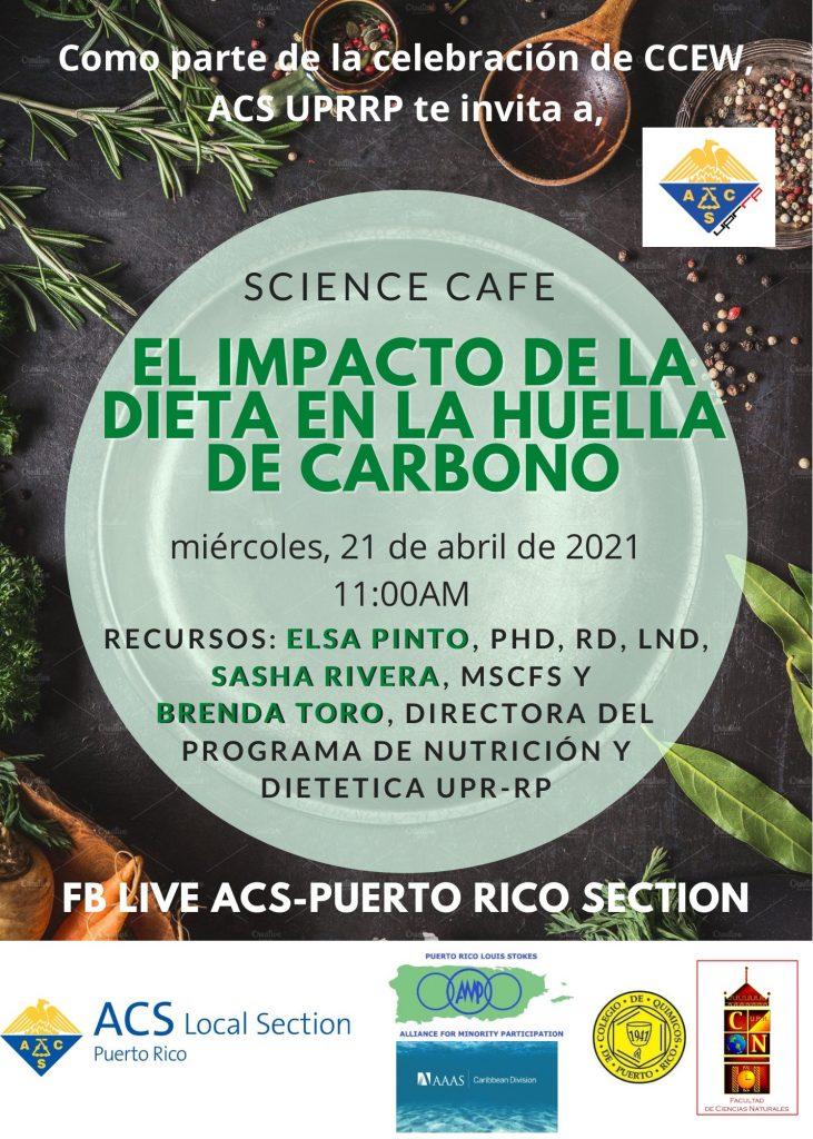 Science Cafe virtual-El impacto de la dieta en la huella de carbono